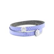 Bracciale in tessuto colore lilla con charms in argento 925% e zirconi bianchi.100% made in Italy