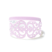 Bracciale in tessuto metallizzato colore rosa con chiusura in argento 925%.100% made in Italy