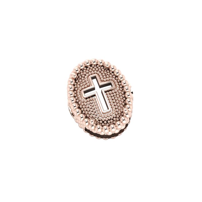 Charms in Argento 925% placcato oro rosè da abbinare al tuo braccialetto in tessuto Krilà.