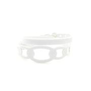 Bracciale in tessuto metallizzato colore Bianco