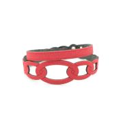 Bracciale in tessuto metallizzato colore Rosso