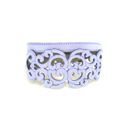 Bracciale in tessuto metallizzato colore Lilla con chiusura in argento 925%.100% made in Italy