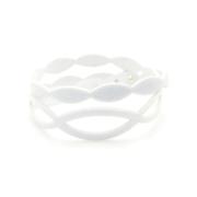 Bracciale Holly in tessuto Metallizzato Bianco