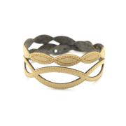 Bracciale Holly in tessuto Metallizzato Oro