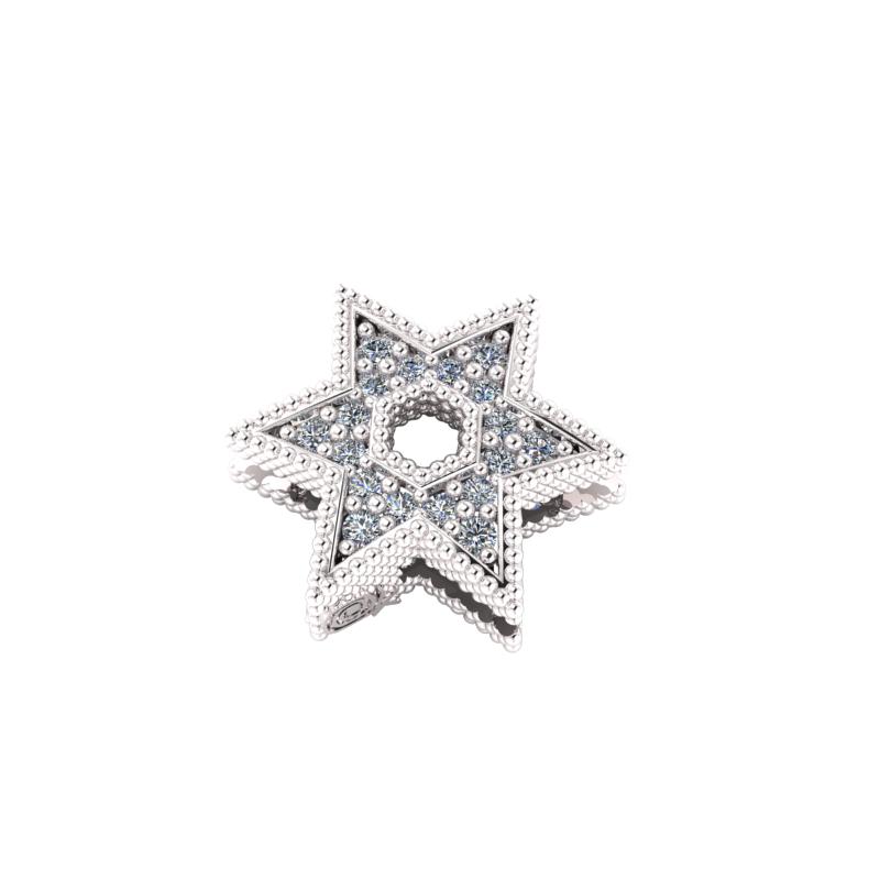 Charms Stella di David in Argento 925% da abbinare al tuo bracciale Krilà